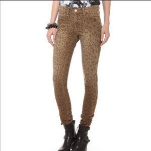 Current Elliott Skinny Leopard Corduroy Jeans 24
